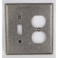 WE Preferred SZBH17-WN, Combo Switch/Outlet Plate, Weathered Nickel, Builders Hardware Collection