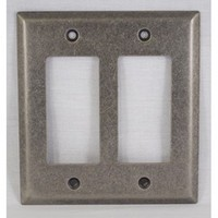 WW Preferred SZBH18-WN, Double Rocker/Decorator Plate, Weathered Nickel, Builders Hardware Collection