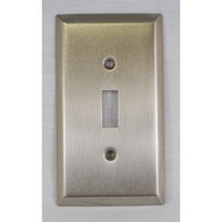 WW Preferred SZBH9-SN, Single Switch Plate, Satin Nickel, Builders Hardware Collection