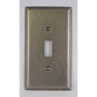 WE Preferred SZBH9-WN, Single Switch Plate, Weathered Nickel, Builders Hardware Collection