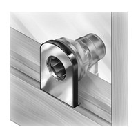 CompX Timberline CB-317 Timberline Lock, Glass Door Lock (up to 3/8 Thick) Cylinder Body Only, Bore Style, Vertical Mount, Satin Nickel