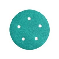 WE Preferred 8506372010961 50 Abrasive Discs, Aluminum Oxide on Film, 5in, 5-Hole, Hook & Loop, 100 Grit