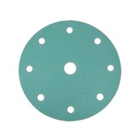 WE Preferred 8506304008961 50 Abrasive Discs, Aluminum Oxide on Film, 6in 9-Hole Hook & Loop, 80G