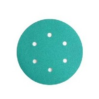WE Preferred 8506333010961 50 Abrasive Discs, Aluminum Oxide on Film, 6in, 6-Hole, Hook & Loop, 100 Grit