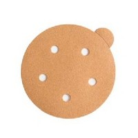WE Preferred 8507372208961 100 Abrasive Discs, Aluminum Oxide on C-Weight Paper, 5in, 5-Hole, PSA, 80 Grit