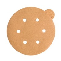 WE Preferred 8507333222961 100 Abrasive Discs, Aluminum Oxide on C-Weight Paper, 6in 6-Hole PSA, 220 Grit