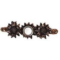 Emenee DB1001ABR, Doorbell, Sunflower, Antique Matte Brass, Solid Brass Doorbell