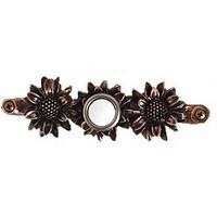 Emenee DB1001AMS, Doorbell, Sunflower, Antique Matte Silver, Solid Brass Doorbell