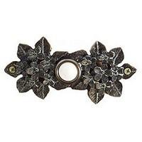 Emenee DB1002AMS, Doorbell, Flower Cluster, Antique Matte Silver, Solid Brass Doorbell