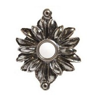 Emenee DB1004ABB, Doorbell, Flower With Two Loops, Antique Bright Brass, Solid Brass Doorbell