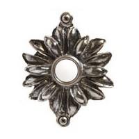 Emenee DB1004ABS, Doorbell, Flower With Two Loops, Antique Bright Silver, Solid Brass Doorbell