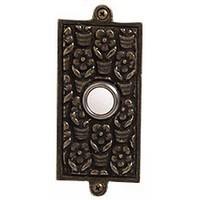 Emenee DB1005AMS, Doorbell, Floral, Antique Matte Silver Doorbell