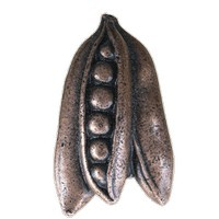 Emenee LU1228GUN, Knob, Peas, Gun Metal