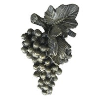 Emenee LU1232WPE, Knob, Grapes Large, Warm Pewter