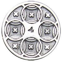 Emenee LU1245AGB, Knob, Mission Circles, Aged Brass