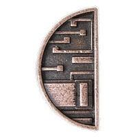 Emenee LU1250AGB, Knob, Mission Half Circle, Aged Brass
