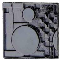 Emenee LU1251GUN, Knob, Mission Square With Circles, Gun Metal