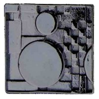 Emenee LU1251OWC, Knob, Mission Square With Circles, Old World Copper
