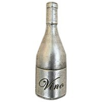 Emenee LU1257POL, Knob, Wine Bottle, Polished Silver