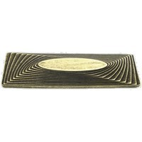 Emenee LU1268AGB, Pull, Rectangle/Oval Mission, Aged Brass