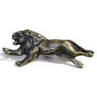 Emenee MK1019ABC, Knob, Lion, Antique Bright Copper