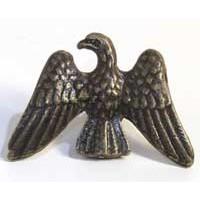 Emenee MK1020ABR, Knob, Eagle, Antique Matte Brass