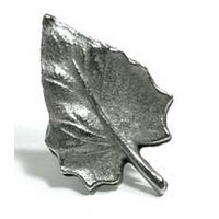 Emenee MK1026AMS, Knob, Leaf Shape, Antique Matte Silver