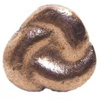Emenee MK1032ACO, Knob, 3-Sided Knot, Antique Matte Copper