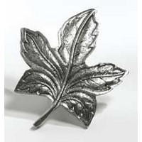 Emenee MK1036AMS, Knob, Maple Leaf, Antique Matte Silver