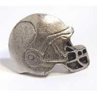 Emenee MK1044AMS, Knob, Football Helmet, Antique Matte Silver
