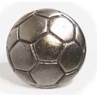 Emenee MK1042AMS, Soccer Ball Knob, Antique Matte Silver
