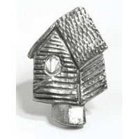 Emenee MK1047AMS, Knob, Bird House, Antique Matte Silver