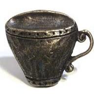 Emenee MK1054ABR, Knob, Teacup, Antique Matte Brass
