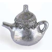 Emenee MK1055AMS, Knob, Teapot, Antique Matte Silver