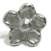 Emenee MK1064AMS, Knob, Flower, Antique Matte Silver