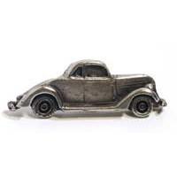 Emenee MK1088AMS, Knob, Car, Antique Matte Silver