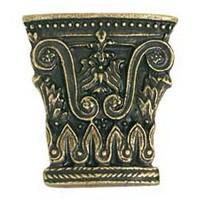 Emenee MK1113AMS, Knob, Column, Antique Matte Silver
