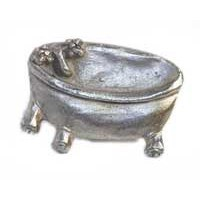 Emenee MK1114AMS, Knob, Bath Tub, Antique Matte Silver