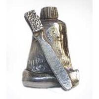 Emenee MK1121ABC, Knob, Toothpaste &  Brush, Antique Bright Copper