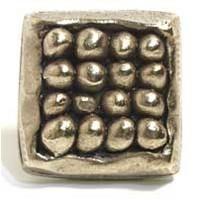 Emenee MK1132ABR, Knob, Organic Square, Antique Matte Brass