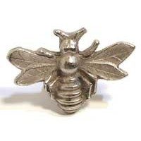 Emenee MK1152AMS, Knob, Bee, Antique Matte Silver