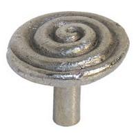 Emenee MK1164ABR, Knob, Thick Swirl, Antique Matte Brass