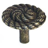 Emenee MK1168ABB, Knob, Rope Swirl, Antique Bright Brass