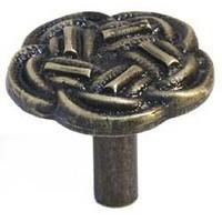 Emenee MK1169ABR, Knob, Knot, Antique Matte Brass