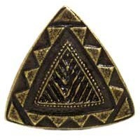 Emenee MK1182ABB, Knob, Southwestern Triangle, Antique Bright Brass