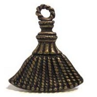 Emenee MK1191ABB, Knob, Tassel, Antique Bright Brass