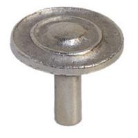 Emenee MK1194AMS, Knob, Double Concave Dome, Antique Matte Silver