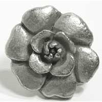 Emenee MK1209AMS, Rose Knob, Antique Matte Silver