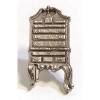 Emenee MK1213ABR, Knob, Highboy, Antique Matte Brass