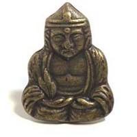 Emenee MK1216AMS, Knob, Buddha, Antique Matte Silver